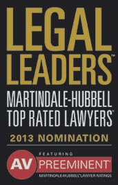 Legal Leaders Top Rated Lawyer 2013